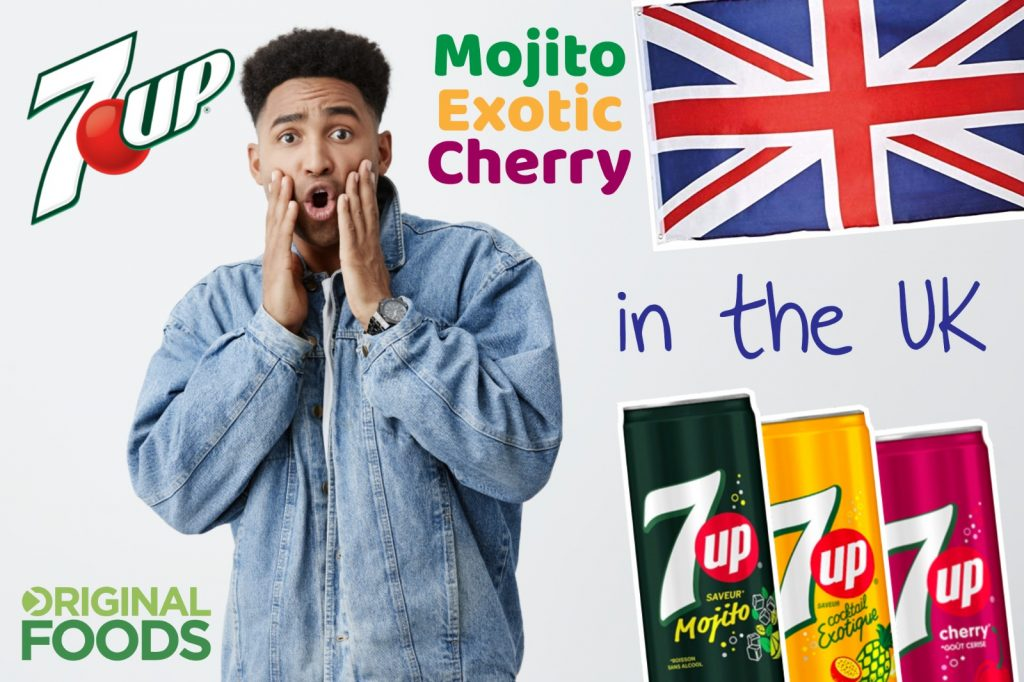 7up Mojito, 7up Exotic, 7up Cherry in the UK